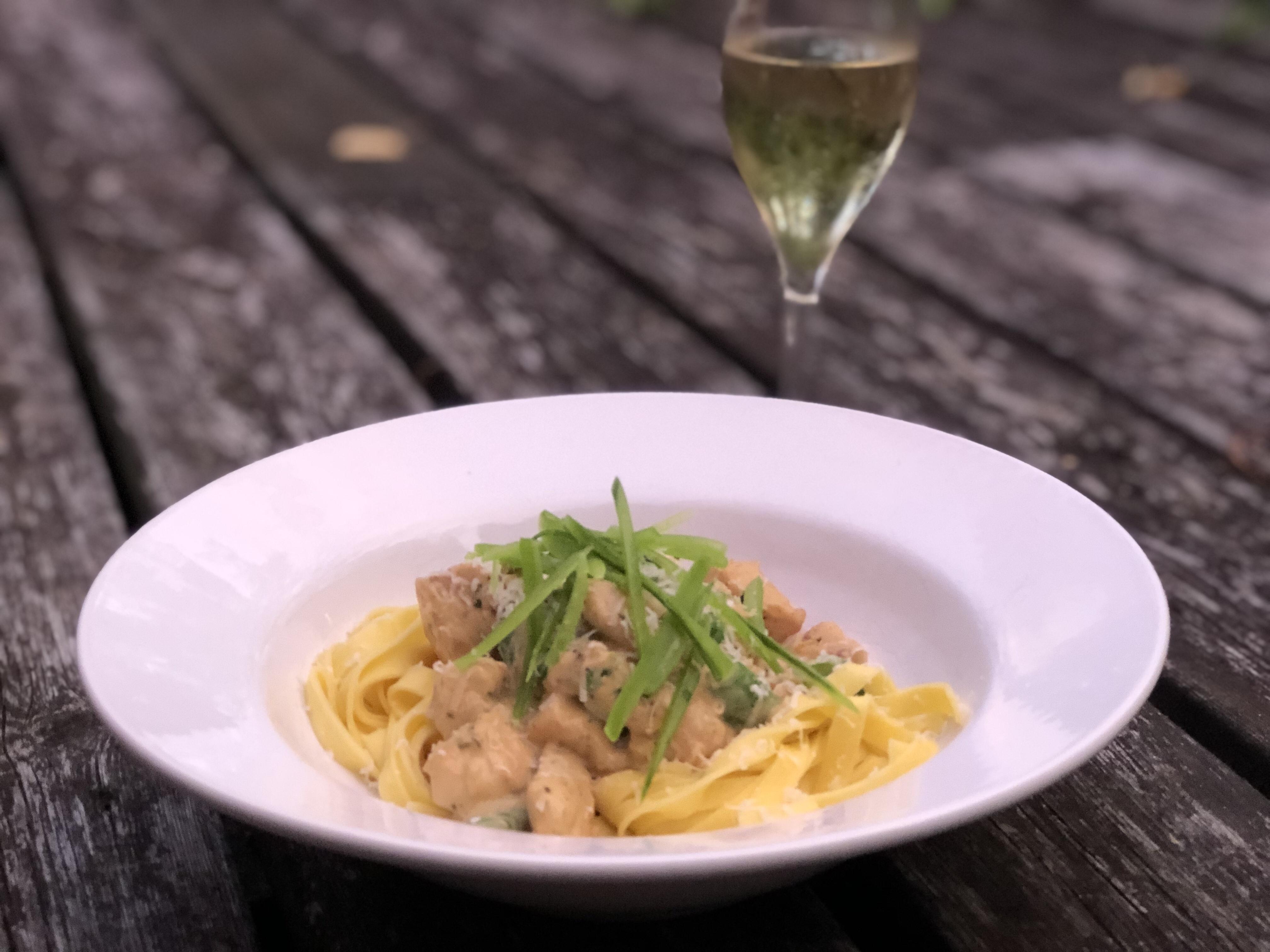 Recept kyckling med pasta