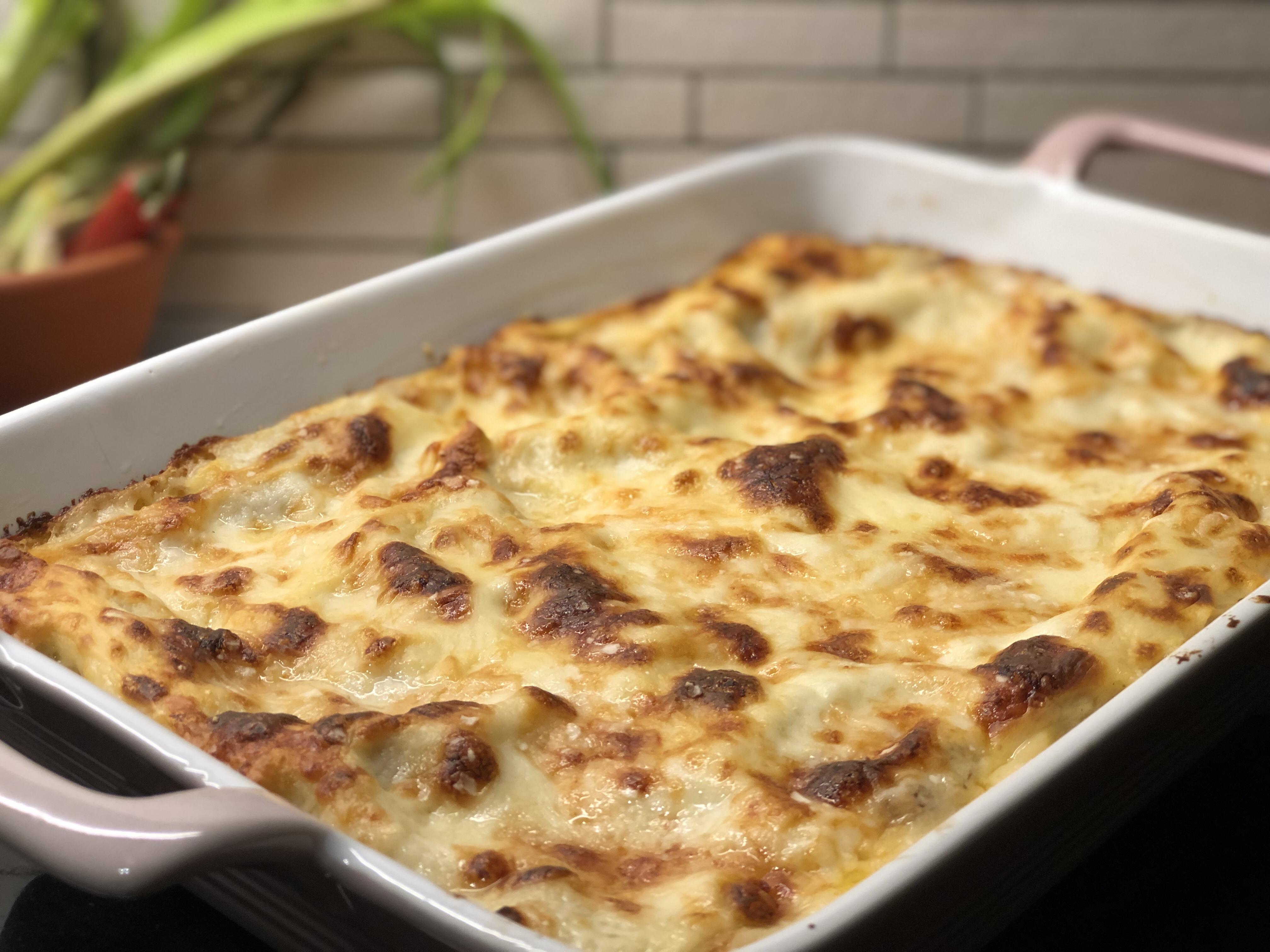 Lasagne i form