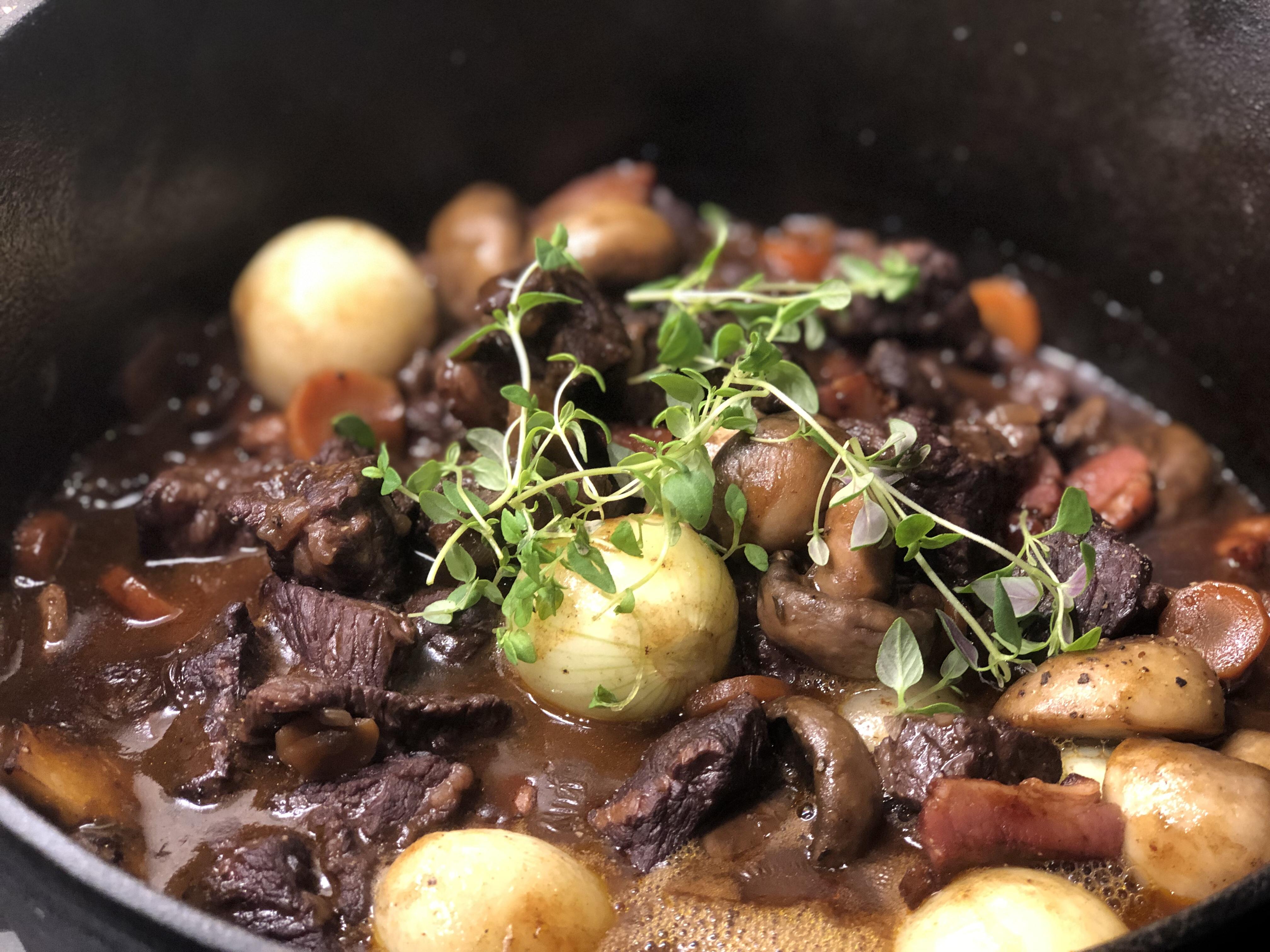 Timjan på Boeuf Bourguignon recept