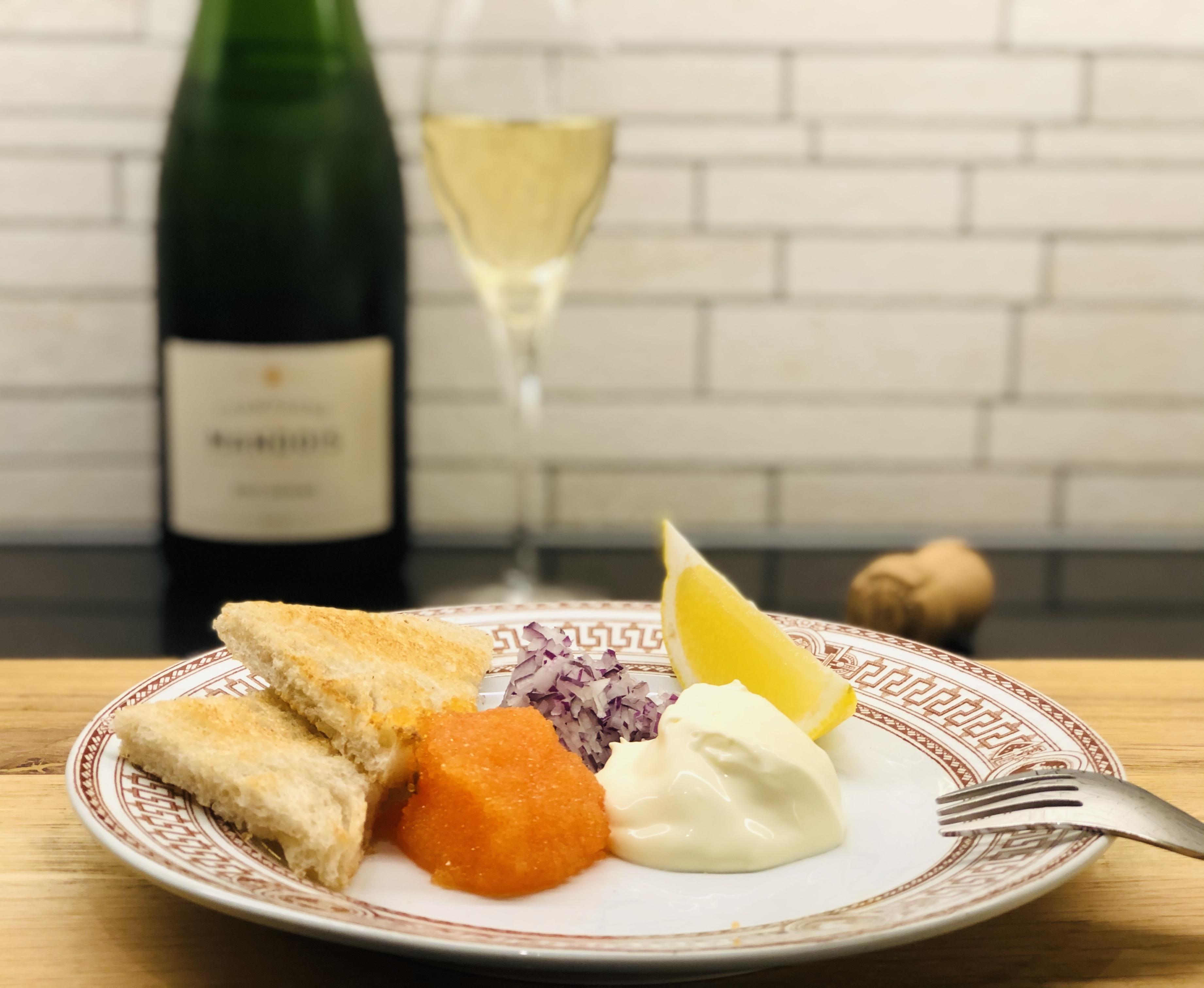 Löjrom Kalix tillbehör champagne