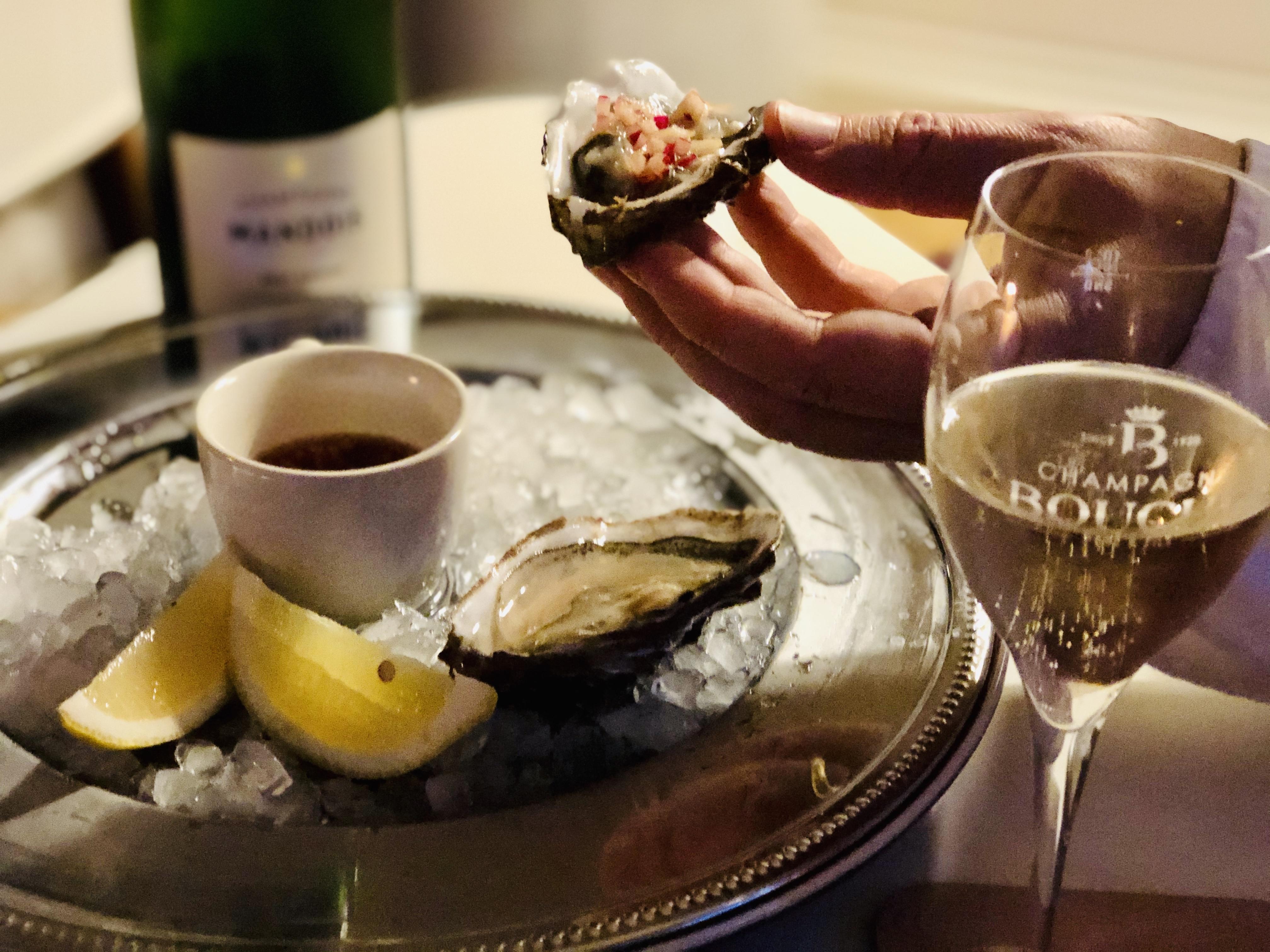 Ostron vinäger champagne