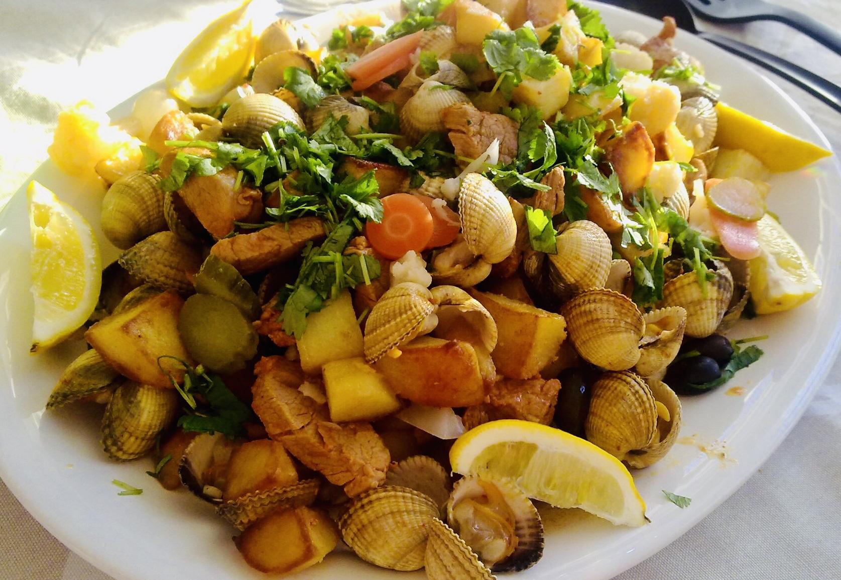 Recept carne de porco à alentejana com amêijoas fläskkött med musslor