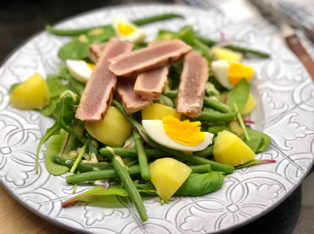 Recept salade niçoise halstrad tonfisk