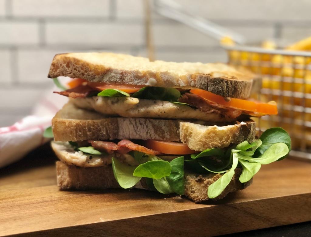 Club sandwich recept kyckling