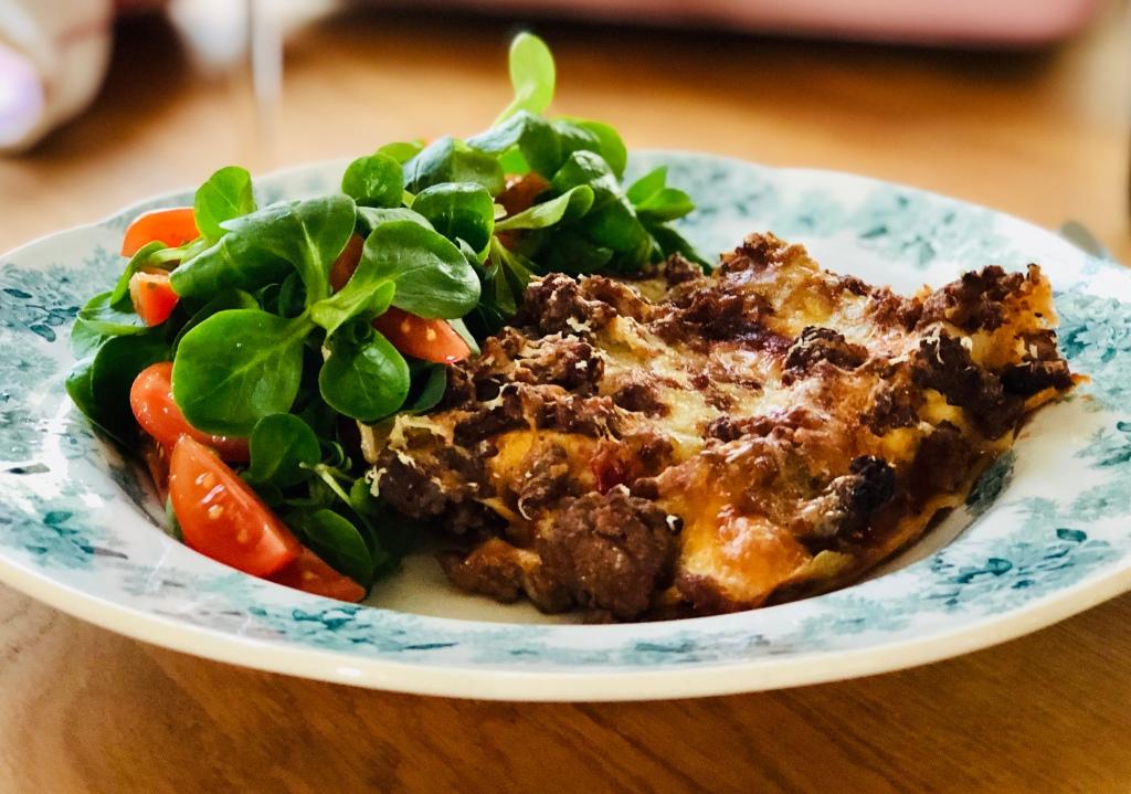 Recept lammfärslasagne lasagne med  lammfärs